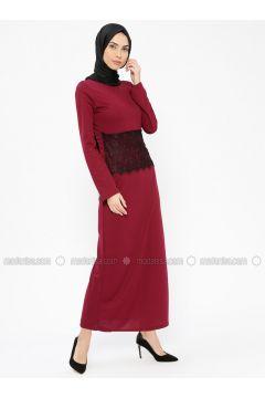 Cherry - Crew neck - Unlined - Dresses - PINK APPLE(110313838)