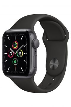 Apple Watch Se Gps 40 Mm Uzay Grisi Alüminyum Kasa Ve Siyah Spor Kordon(124471671)