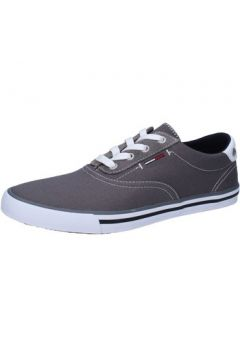 Chaussures Tommy Hilfiger sneakers gris textile AB948(115393889)