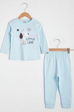 Bebek Kız Bebek Baskılı Pijama Takımı(127067627)