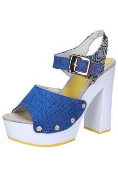 Sandales Suky Brand sandales bleu textile AB316(115393816)