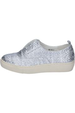 Chaussures Francescomilano mocassins argent cuir synthétique BS79(115443040)
