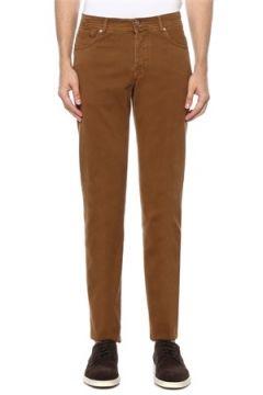 Kiton Erkek Kahverengi Normal Bel Dar Paça Pantolon 36 US(121912359)