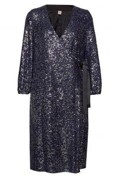 Sequins Everlee Dress Kleid Knielang Blau BECKSÖNDERGAARD(118239988)