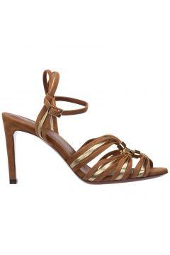 Women's suede heel sandals(118301471)
