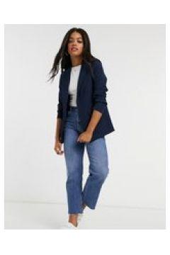 New Look - Blazer blu navy con maniche arricciate(122835479)