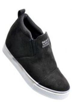 Pantofelek24.pl | Wsuwane trampki sneakersy dla dziewczynki CZARNE(112082460)
