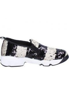 Chaussures J. K. Acid slip on blanc paillettes noir BX744(115442633)