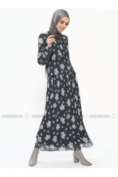Indigo - Multi - Crew neck - Fully Lined - Dresses - Tuana(110337069)