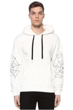 Haculla Erkek Sugar Beyaz Kapüşonlu Baskılı Sweatshirt L EU(108972842)