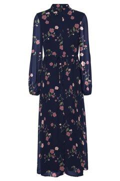 VERO MODA Maxi Kleid Damen Blau(108576771)