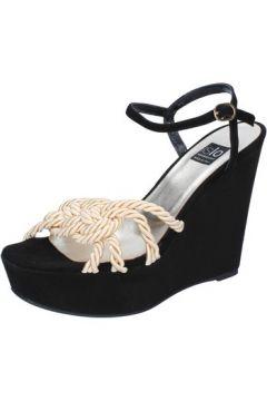 Sandales Islo sandales noir daim beige textile BZ517(88470300)