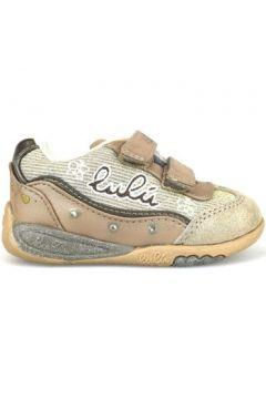 Chaussures enfant Lulu sneakers or textile argent daim AH222(115395263)