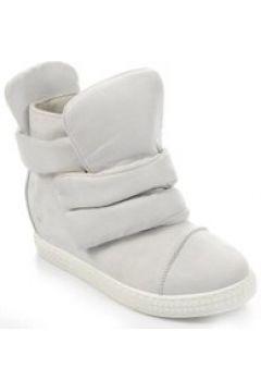Trampki sneakersy na niskim koturnie Grey(112082850)