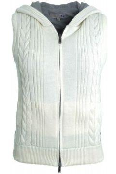 Gilet La Martina Gilet sans manches blanc crème pour femme(115407427)