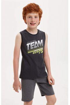 DeFacto Erkek Çocuk Baskılı Bisiklet Yaka Pamuklu Atlet(119065200)