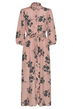 Delicate Shirt Dress Maxikleid Partykleid Pink BY TI MO(114164528)