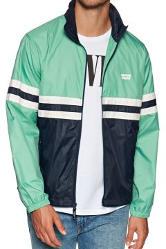 Veste Levi\'s Colorblocked Windbreaker - Night Watch Blue X Crème De Menthe(111324672)