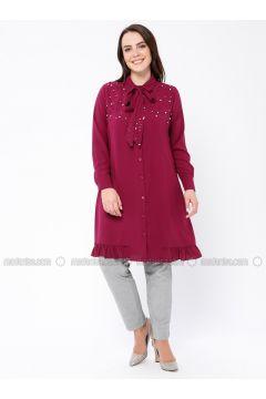 Cherry - Point Collar - Plus Size Tunic - Tuana(110337103)