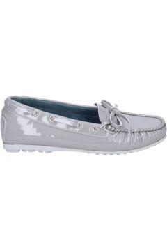 Chaussures K852 Son mocassins gris cuir verni BT967(115442983)