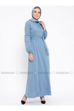 Blue - Crew neck - Unlined - Dresses - PINK APPLE(110313868)