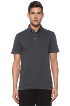Tru Erkek Dyed Antrasit Polo Yaka T-shirt Gri S EU(118478281)