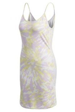 Adidas Kadın Bej Sarı Batik Desenli Mini Elbise 38 EU(113466004)