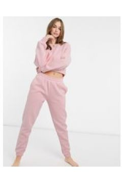 Chelsea Peers - Joggers da casa in cotone organico pesante rosa chiaro(123402556)
