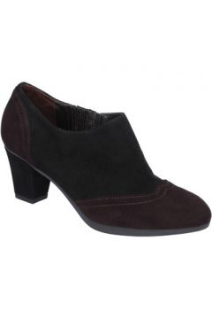 Boots Guido Sgariglia bottines noir daim brun foncé ay114(115637965)