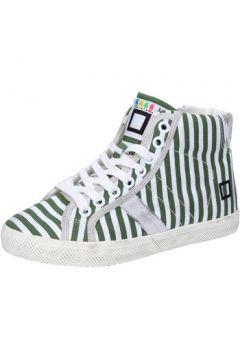 Baskets enfant Date sneakers blanc textile vert AB614(115393845)