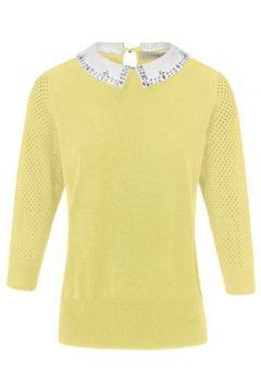 Pullover abnehmbaren Kragen Uta Raasch gelb(110575464)