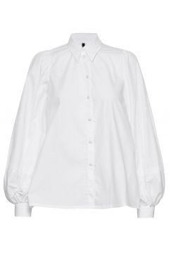 Tegan White Organic Cotton Shirt Langärmliges Hemd Weiß MOTHER OF PEARL(120403621)