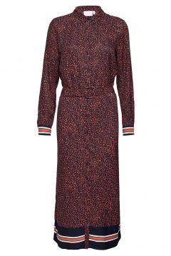 Dress W. Front Breast Pockets In Ra Kleid Knielang Rot COSTER COPENHAGEN(114163349)