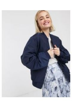 Monki - Bomber in nylon blu navy(120388383)