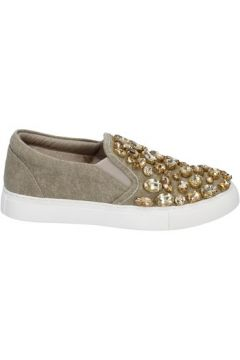 Chaussures Sara Lopez slip on beige toile pierres BT991(115442988)