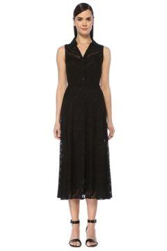 Missoni Kadın Siyah V Yaka Desenli Kolsuz Midi Triko Elbise 40 IT(108378197)
