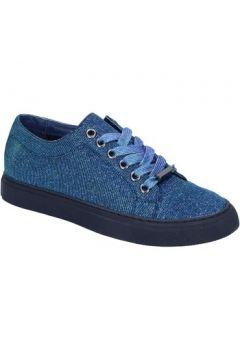 Chaussures Sara Lopez sneakers bleu textil BT995(98485358)