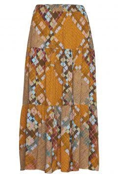 Malte Mw Midi Skirt Knielanges Kleid Gelb SECOND FEMALE(114163782)