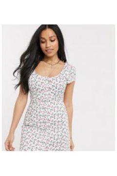 Fashion Union Petite - Vestito corto con rose-Bianco(120330706)