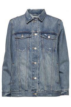 Distressed Over D Icon Denim Jacket Jeansjacke Denimjacke Blau GAP(114153732)