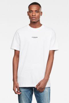 G-Star RAW Men Center Chest Logo GR Loose T-Shirt White(117926403)