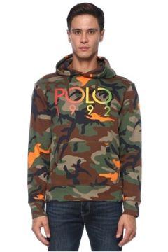 Polo Ralph Lauren Erkek Haki Kapüşonlu Kamuflajlı Logo Detaylı Sweatshirt S EU(121108334)