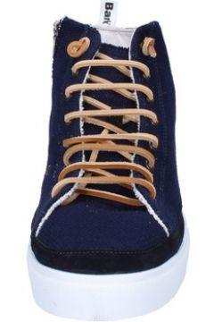 Chaussures Bark sneakers bleu textile daim AG588(88469558)