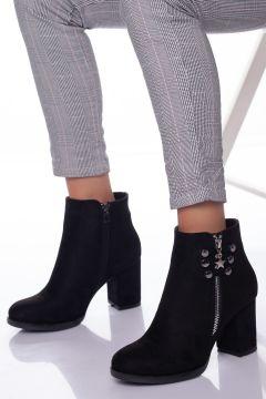 Ayakkabı Frekansı Kadın Siyah Royel Süet Bot(121161997)