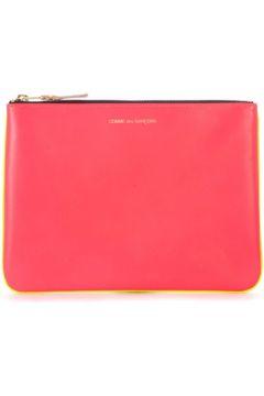 Pochette Comme Des Garcons Sac à enveloppe en peau rose et jaune fluo(115435589)
