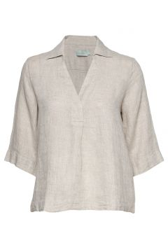 Marseille Linen Blouse Blouses Short-sleeved Creme MORRIS LADY(114154346)