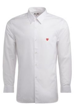 Chemise Comme Des Garcons Camicia Comme Des Garcons PLAY in cotone bianco con mini cuore(101809644)