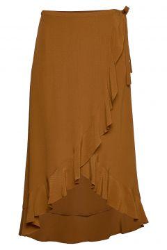Limon L Wrap Skirt 10458 Knielanges Kleid Braun SAMSØE & SAMSØE(109242946)