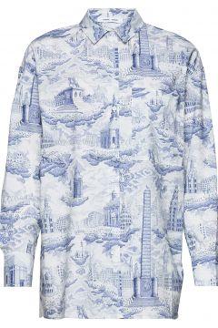 Loraine Shirt Aop 11332 Bluse Langärmlig Blau SAMSØE & SAMSØE(108467509)