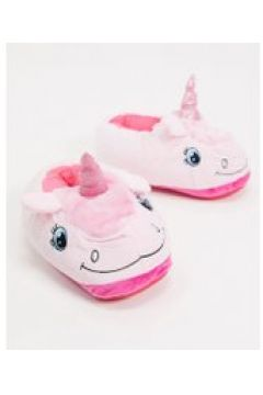 Loungeable - Pantofole rosa a forma di unicorno(120299035)